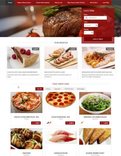 Création Restaurant en ligne
